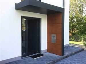 Holz Vordach Hauseingang : vordach und m llbox in einer optik siebau ~ Watch28wear.com Haus und Dekorationen