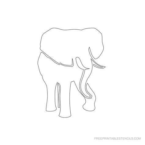 elephant stencil printable designs  printable