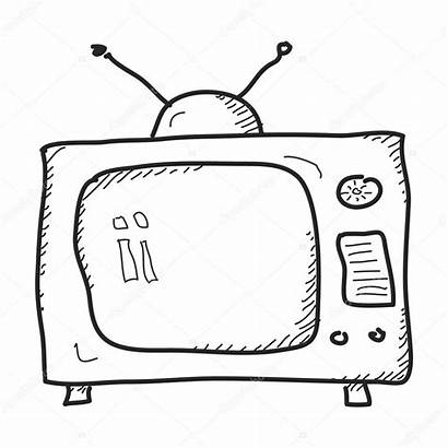Television Drawing Doodle Getdrawings Simple