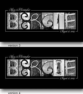 bergie last name sign alphabet photo letters fritts With last name letters photography