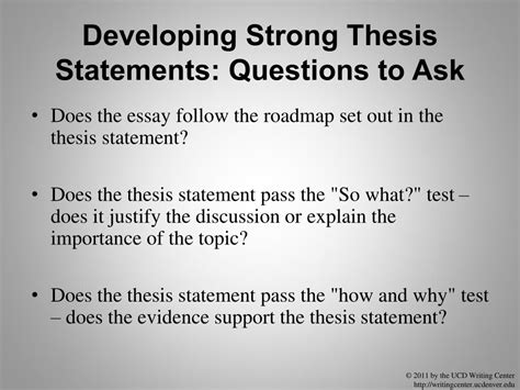 thesis questions statements developing prewriting preparation strong writing process ppt powerpoint presentation statement does ask essay
