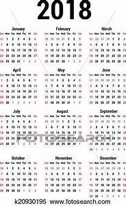 Clipart calendário, 2018 k20930195 Busca de