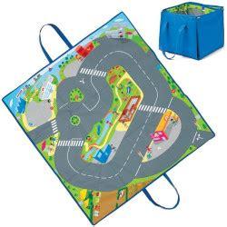 tapis de jeu pour petites voitures jouet repliable
