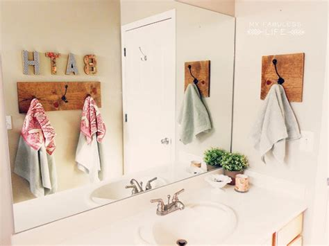 diy towel racks   stylish rest room replace
