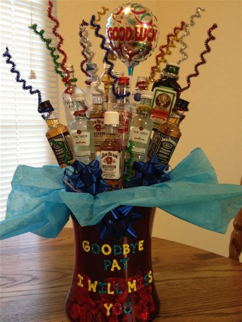 alcohol bouquet   workers farewell crafts