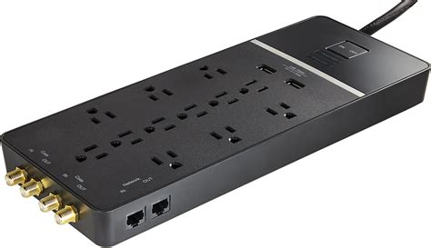 surge protector strip outlet rocketfish usb power rf bestbuy cord protection outlets protected