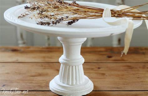 pie plate pedestal stand  repurposed life