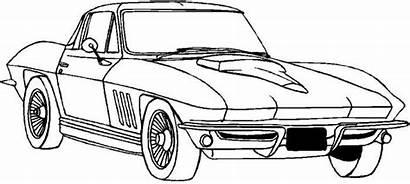 Corvette Coloring Pages Clipart Classic Cars Adult