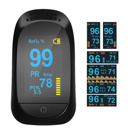 Finger Pulse Oxygen Blood Oxygen Oximeter with