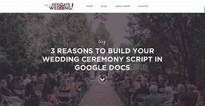 3 reasons to build your wedding ceremony script in google With how to officiate a wedding ceremony