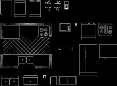 kitchen furniture  dwg block  autocad designs cad