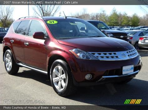 merlot pearl  nissan murano sl awd cafe latte