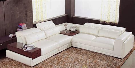 canap haut de gamme italien canap angle en cuir vachette blanc