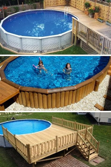 Small Pool Decks For Above Ground Pools
