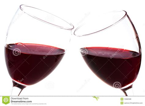 bicchieri di rosso due bicchieri di con rosso fotografie stock