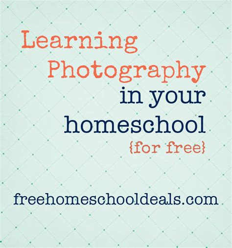 learning photography   homeschool