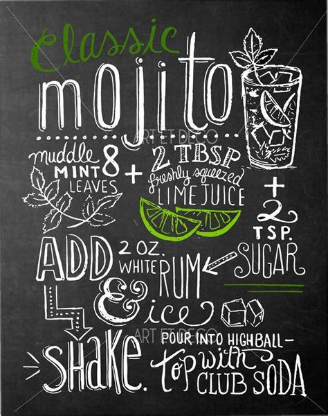 tableau ardoise cuisine idée relooking cuisine tableau recette cocktail mojito