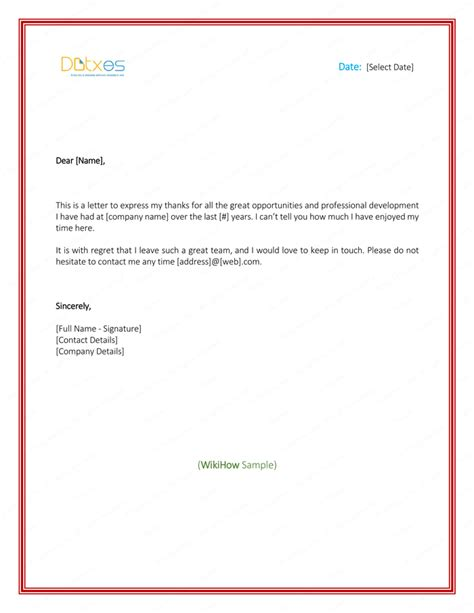 sle thank you letter employer leaving 28 images the as