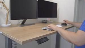 Höhenverstellbarer Schreibtisch Test : elektrisch h henverstellbarer schreibtisch dorsalo xbhm im test youtube ~ Orissabook.com Haus und Dekorationen