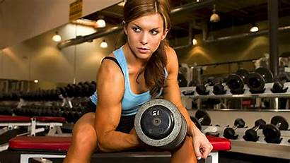 Muscular Weights Gym Female Lift Bulky Dumbbell
