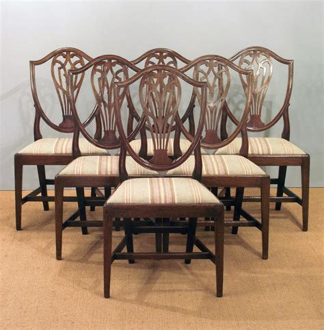 set   antique dining chairs hepplewhite dining