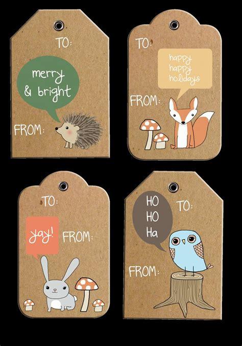 rustic woodland holiday gift tags  printable