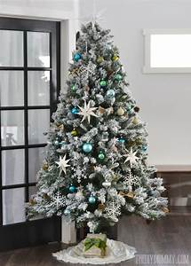 1000 White Christmas Lights Our Teal Green Silver And White Vintage Inspired Flocked