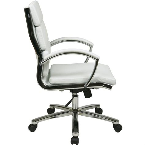 faux leather executive office chair in white fl5388c u11