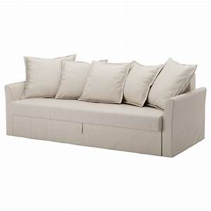 Holmsund three seat sofa bed nordvalla beige ikea for Hard sofa bed
