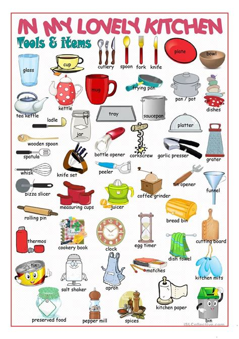 Kitchen Picture Dictionary#2 Worksheet  Free Esl