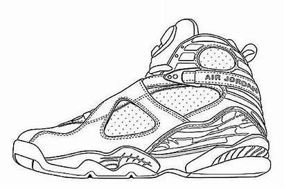 Jordan Retro Coloring Pages Shoes Air Shoe