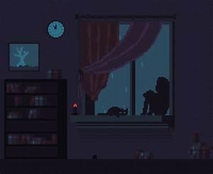 Alone Alternative Animation Cartoon Cat Animated Gif