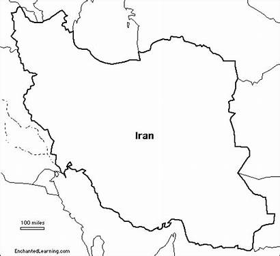Map Iran Outline Iraq Blank Country Research