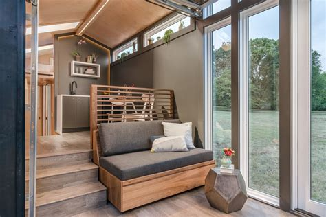 tiny house  sale embraces modern farmhouse style curbed