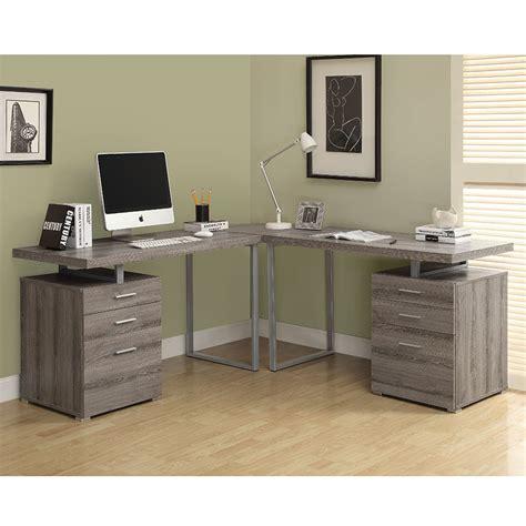 Carey Gray Washed Modern Ldesk  Eurway Furniture