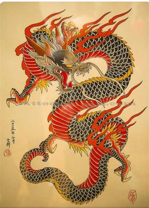 japanese style yakuza dragon motif dragon tatoeage