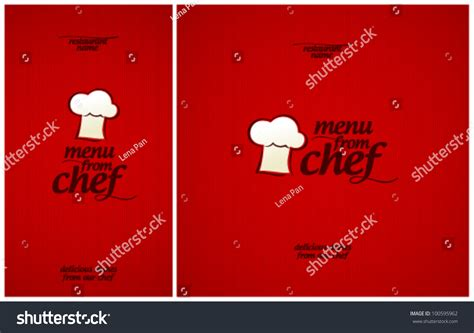 special menu chef design template stock vector