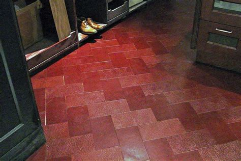 recycled leather tiles recycled leather in unusual places home tips for women
