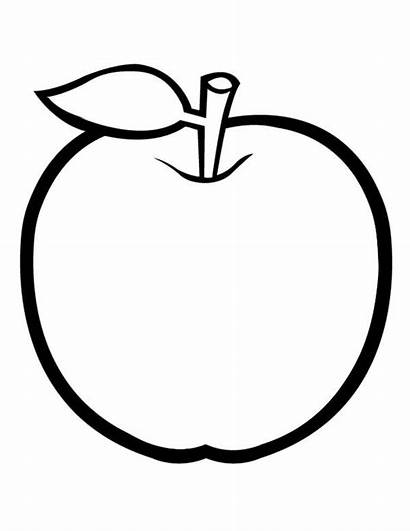 Apple Coloring Leaf Drawing Cartoon Pages Without