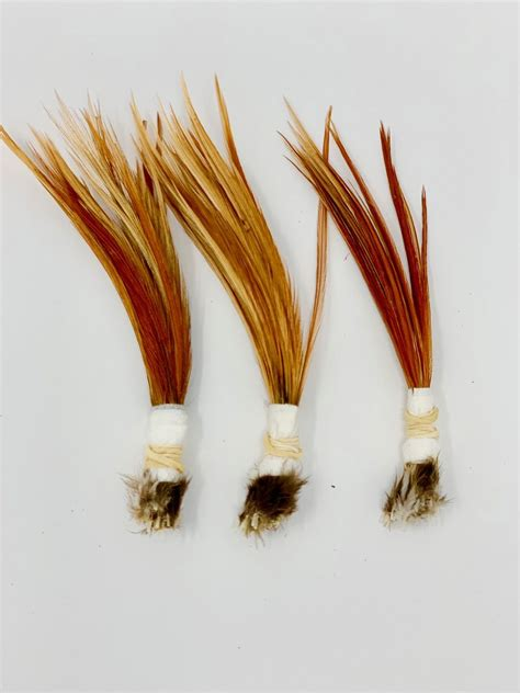 dry fly feather bundles rooster feathers  fly tying