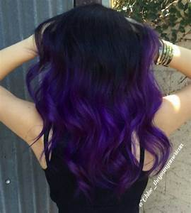 43 Amazing Dark Purple Hair BalayageOmbreviolet Style