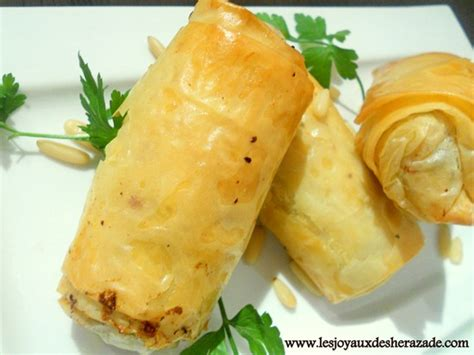 cuisine syrienne traditionnelle boureks recette libanaise à la pâte filo les joyaux de