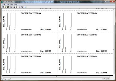 Template For Raffle Tickets To Print by 11 Free Printable Raffle Ticket Template
