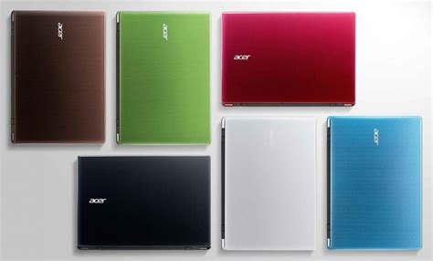 color laptops acer announces new lineup of colorful tablets laptops