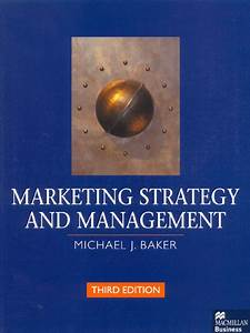 Marketing Strategy And Management  3rd Edition