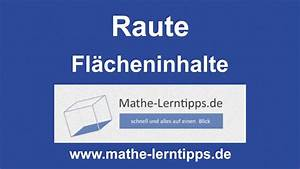 Raute Flächeninhalt Berechnen : raute fl cheninhalt berechnen mathe youtube ~ Themetempest.com Abrechnung