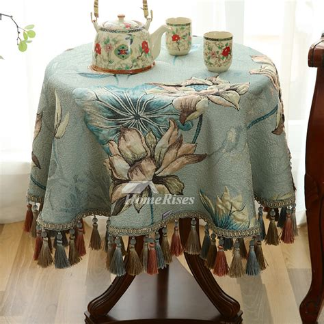 vintage    tablecloth polyester blue wholesale