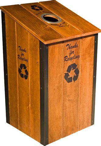 ryobi nation rustic trash recycle bin