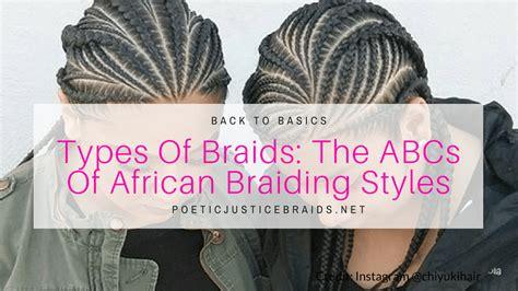 A List Of African Braiding Styles W
