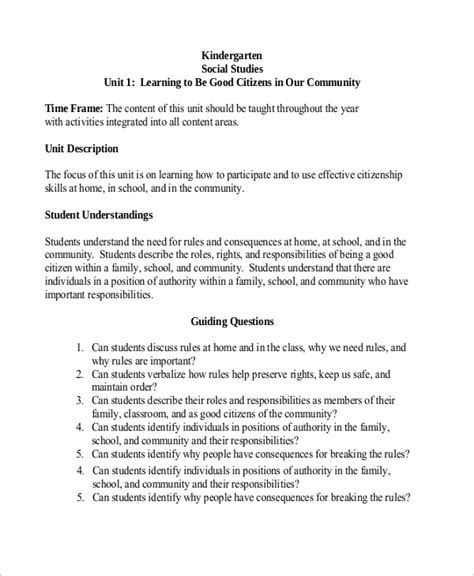 sample kindergarten lesson plan 8 examples in pdf word 334 | Kindergarten Social Studies Lesson Plan